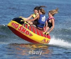 Airhead Big Shot Quadruple Rider Boat Lake Water Towable Open Top Tube BS-1
