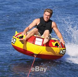 Airhead Blast Inflatable 1-Person Towable Water Tube Boat, Extreme Water Sports