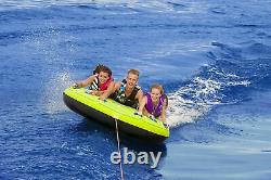 Airhead Comfort 75 Inch Deck Shell 3 Rider Inflatable Towable Boating Water Tube
