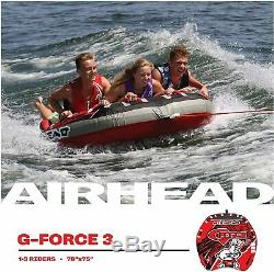 Airhead G Force Inflatable Towable Tube 1 3 Rider Outdoor Water Boating AHGF 3