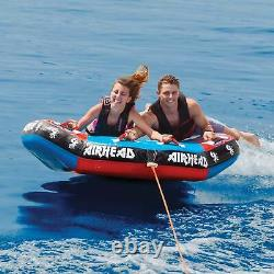 Airhead Griffin 2 Person Inflatable Winged Shaped Water Boating Towable Tube