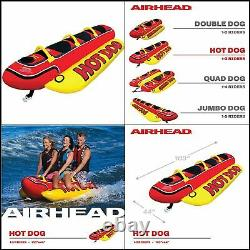 Airhead HD-3 Inflatable Hot Dog Towable Banana Boat Water Sport Ski Tube