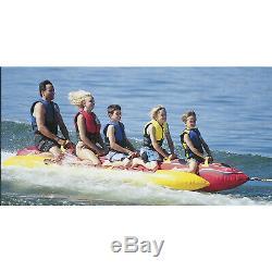 Airhead HD-5 Jumbo Dog 5 Person Towable Inflatable Water Tube Hot Dog