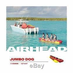 Airhead Inflatable Hot Dog Towable Tube 1 5 Rider Heavy Duty Outdoor Water HD 5