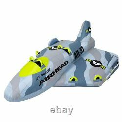 Airhead Jet Fighter 4 Person Inflatable Boat Towable Water Tube Raft (For Parts)