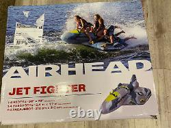 Airhead Jet Fighter Airplane 1-4 Person Inflatable Boat Towable Water Tube Raft