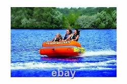 Airhead Live Wire Inflatable Towable Tube 3 Person Outdoor Water Sports AHLW3