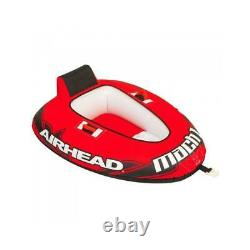 Airhead Mach 1 Single Rider Towable Water Lake Ocean River Tube (Open Box)