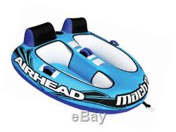 Airhead Mach 2 Cockpit Inflatable Water Tube 2 Rider Boat Tow Towable AHM2-2