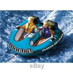Airhead Mach Inflatable Double Rider Cockpit Towable Lake Water Tube (Open Box)