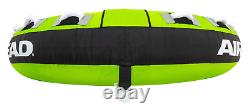 Airhead Mega Ruckus 3-Person Rider Inflatable Towable Boat 70 Deck Tube Water