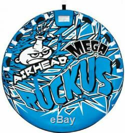 Airhead Mega Rukus 3-Person Towable Deck Tube Inflatable Outdoor Water Sports