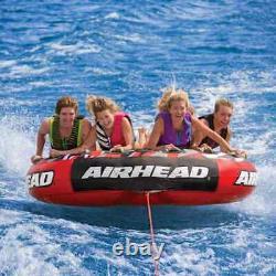 Airhead Mega Slice Inflatable 4 Person Flotation Towable Water Tube