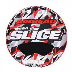 Airhead Mega Slice Inflatable Quadruple Rider Towable Tube Water Raft AHSSL-42