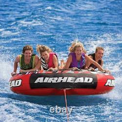 Airhead Mega Slice Inflatable Quadruple Rider Towable Tube Water Raft (Open Box)
