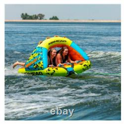 Airhead Poparazzi 2 Person Inflatable Heavy-Gauge PVC Towable Water Tube, Green