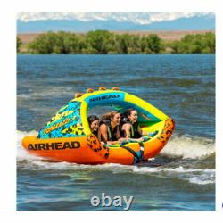 Airhead Poparazzi 3 Person Inflatable Heavy-Gauge PVC Towable Water Tube, Green