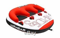 Airhead RIPTIDE Inflatable Towable Tubing Boat 3 Person Outdoor Water Sports New