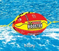 Airhead Super Slice Inflatable Towable Water Tube with Booster Ball Towing System