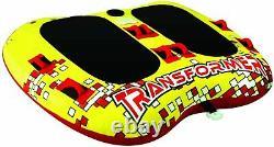 Airhead Transformer 2 Person Towable Inflatable Water Ski Tube Boating NIB