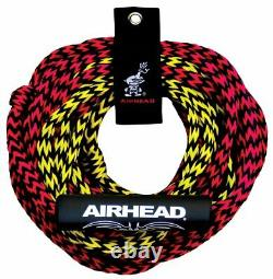 Airhead Tube Rope 2 Section with Floater 2 Rider Towable Lake Boat Water (6 Pack)