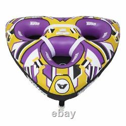 Airhead Turbo Blast 3 Person 81 x 107 Inflatable Boat Towable Water Inner Tube