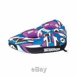 Airhead Turbo Towable Tube Padded Handles 1 3 Rider Outdoor Water Boating AHTB12