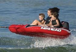 Airhead Viper 3 Triple Rider Cockpit Inflatable Towable Lake Water Tube AHVI-F3