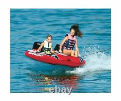 Airhead Viper Towable Tube 2 Rider 6 Stripped Nylon Outdoor Water Boating New