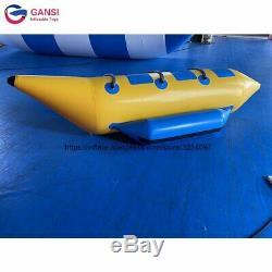 Aqua inflatable water flying towable tube 3 seats inflatable banana boat for