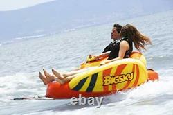 Big Sky Heat Wave Towable Inflatable Water Tube for 2 -Roomy Durable Boating