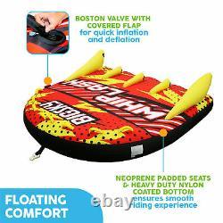 Big Sky Whiplash Inflatable Water Towable Tube, 1-4 People