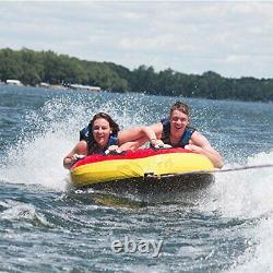Blue Angel Inflatable 2 Person Rider Towable Boat Water Tube Raft Towable Tube
