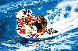 Boat Towable Tube Inflatable Deck Water Sport Float 2 Person Wow Rider Durable