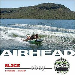 Boating Airhead Big Slice Towable Water Tube 2 Person Rider Heavy Duty Safety