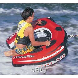 Boating Airhead RIP II Towable Water Tube 1 person Rider ahri-22 Barrel Rolling