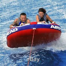 Boating Kwik Tek Airhead Shockwave 2 Towable Water Tube 2 Person Rider ahsh-2