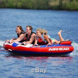 Boating Kwik Tek Airhead Shockwave 3 Towable Water Tube 3 Person Rider ahsh-3