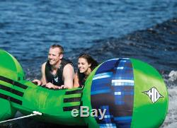 Boating Towable Tube for 2 Riders Adults Children Good for Calm or Rough Water