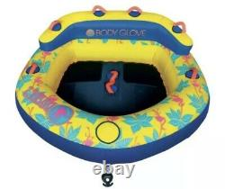 Body Glove Bayside 2 Two-Person Yellow Water Tubing Inflatable Towable Tube NEW