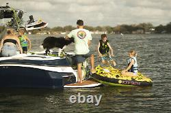 Body Glove Riverside 3 Person Yellow Water Skiing Inflatable Towable Tube