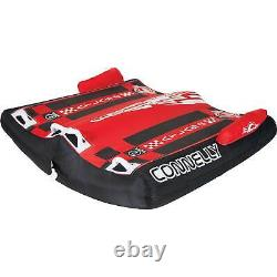 CWB Atlas 2 Continuous Rocker Durable 2 Rider Inflatable Towable Water Tube, Red