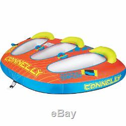 CWB Connelly Triple Threat 3 Person Inflatable Boat Towable Water Inner Tube