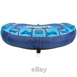 CWB Cruzer 3 Rider Ultra Plush Inflatable Deck Water Towable Tube, Red (Used)