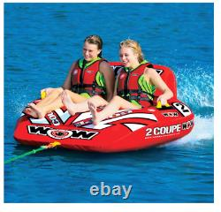 Cockpit Tube Towable Water Ski 2 Person Coupe Inflatable Boat Water Sports Pool