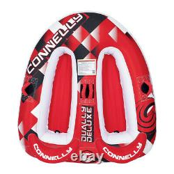 Connelly 67170005 Dually Deluxe Inflatable Towable Water Tube for 2 People, Red