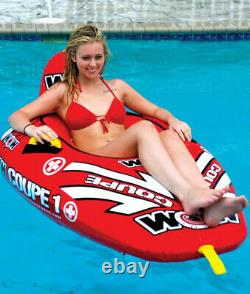 Coupe 1 Rider Secure Cockpit Seating Towable Tube 170 lbs Capacity Water Sports
