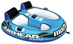 Double Inflatable Water Tube Floating Towable Rider Boat Ski Raft Lake 2 Person