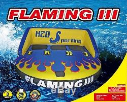 H2O Sporting Flaming III 1 2 3 Person Water Ski Tube Towable Sea Doo