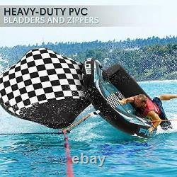 Heavy-Duty Inflatable Towable Booster Tube Two Person Water Tube Boating